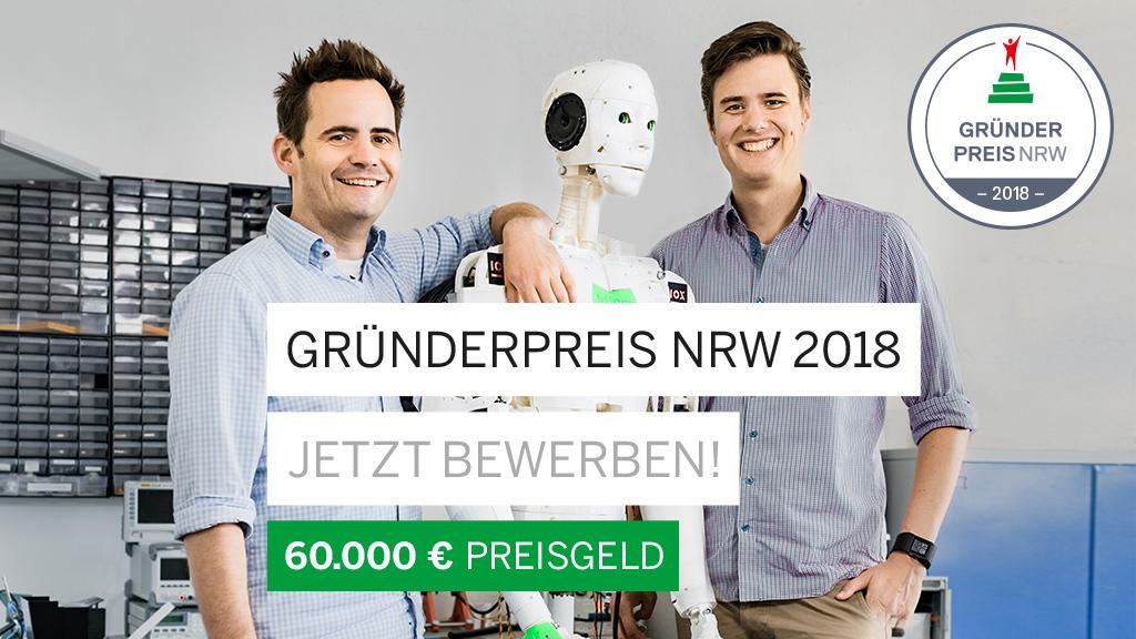 Die beiden Gewinner des Gründerpreis NRW 2017