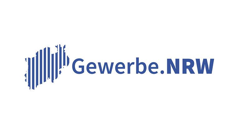 Logo mit Schriftzug Gewerbe.NRW