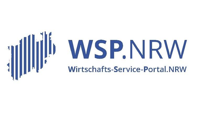 Logo mit Schriftzug Wirtschafts-Service-Portal.NRW