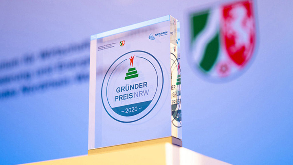 Excerpt from the cup from the GRÜNDERPREIS NRW 2020